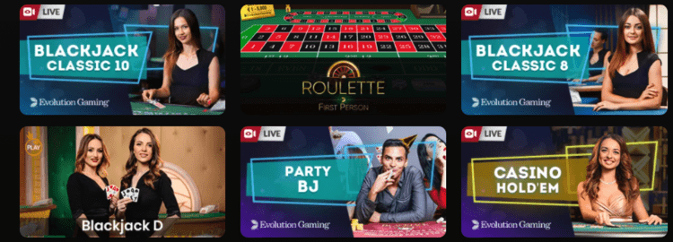 Bethvhan live casino van Evolution Gaming