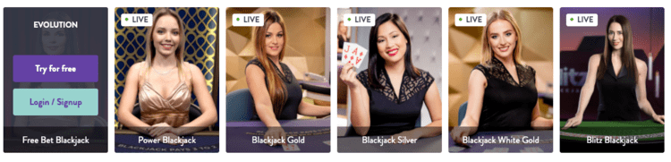 Mr.Play live casino blackjack