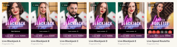Justspin blackjack