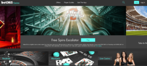 Bet365 HP Free spins